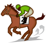 Horse Racing: Dark Skin Tone on emojidex 1.0.22