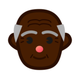 Old Man: Dark Skin Tone on emojidex 1.0.22