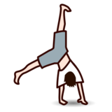 Person Cartwheeling: Light Skin Tone on emojidex 1.0.22