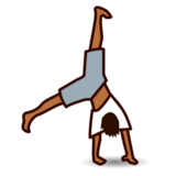 Person Cartwheeling: Medium-Dark Skin Tone on emojidex 1.0.22