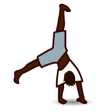 Person Cartwheeling: Dark Skin Tone on emojidex 1.0.22