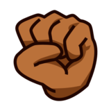 Raised Fist: Medium-Dark Skin Tone on emojidex 1.0.22