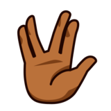 Vulcan Salute: Medium-Dark Skin Tone on emojidex 1.0.22