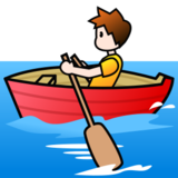 Person Rowing Boat: Light Skin Tone on emojidex 1.0.22