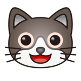 Grinning Cat Face on emojidex 1.0.22