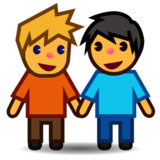 Men Holding Hands on emojidex 1.0.22