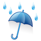 Umbrella With Rain Drops on emojidex 1.0.22