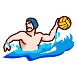 Person Playing Water Polo: Light Skin Tone on emojidex 1.0.22