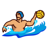 Person Playing Water Polo: Medium Skin Tone on emojidex 1.0.22