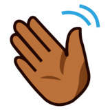 Waving Hand: Medium-Dark Skin Tone on emojidex 1.0.22