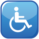 Wheelchair Symbol on emojidex 1.0.22