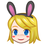 Woman With Bunny Ears, Type-1-2 on emojidex 1.0.22