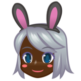 Woman With Bunny Ears, Type-6 on emojidex 1.0.22
