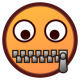 Zipper-Mouth Face on emojidex 1.0.22