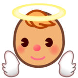 Baby Angel: Medium Skin Tone on emojidex 1.0.24