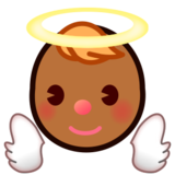 Baby Angel: Medium-Dark Skin Tone on emojidex 1.0.24