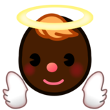 Baby Angel: Dark Skin Tone on emojidex 1.0.24