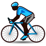 Person Biking: Dark Skin Tone on emojidex 1.0.24