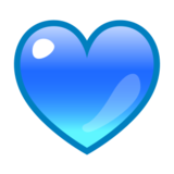 Blue Heart on emojidex 1.0.24