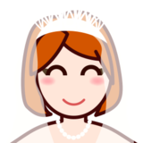 Bride With Veil: Light Skin Tone on emojidex 1.0.24