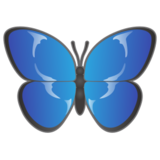 Butterfly on emojidex 1.0.24