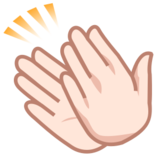 Clapping Hands: Light Skin Tone on emojidex 1.0.24