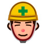 Construction Worker: Medium-Light Skin Tone on emojidex 1.0.24
