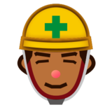 Construction Worker: Medium-Dark Skin Tone on emojidex 1.0.24