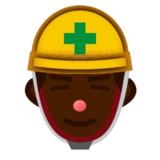 Construction Worker: Dark Skin Tone on emojidex 1.0.24