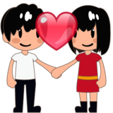 Couple With Heart, Type-3 on emojidex 1.0.24