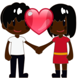 Couple With Heart: Dark Skin Tone on emojidex 1.0.24