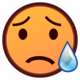 Sad but Relieved Face on emojidex 1.0.24