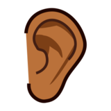 Ear: Medium-Dark Skin Tone on emojidex 1.0.24