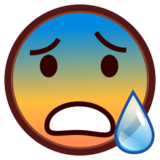 Anxious Face With Sweat on emojidex 1.0.24