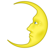 First Quarter Moon Face on emojidex 1.0.24