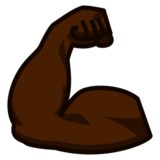 Flexed Biceps: Dark Skin Tone on emojidex 1.0.24
