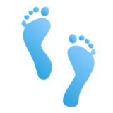Footprints on emojidex 1.0.24