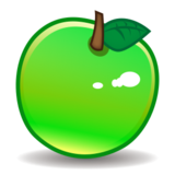 Green Apple on emojidex 1.0.24