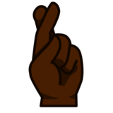 Crossed Fingers: Dark Skin Tone on emojidex 1.0.24