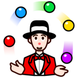 Person Juggling: Light Skin Tone on emojidex 1.0.24