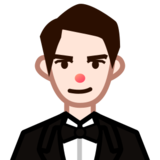 Person in Tuxedo: Light Skin Tone on emojidex 1.0.24