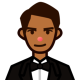 Person in Tuxedo: Medium-Dark Skin Tone on emojidex 1.0.24