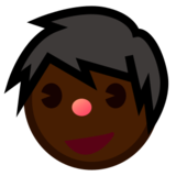 Man: Dark Skin Tone on emojidex 1.0.24