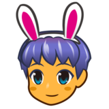 Men with Bunny Ears on emojidex 1.0.24
