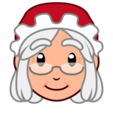 Mrs. Claus: Medium-Light Skin Tone on emojidex 1.0.24