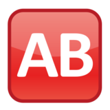 AB Button (Blood Type) on emojidex 1.0.24