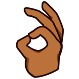 OK Hand: Medium-Dark Skin Tone on emojidex 1.0.24