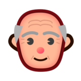 Old Man: Medium-Light Skin Tone on emojidex 1.0.24