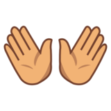 Open Hands: Medium Skin Tone on emojidex 1.0.24