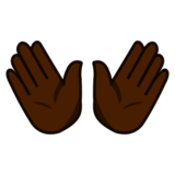 Open Hands: Dark Skin Tone on emojidex 1.0.24